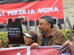aksi pekerja media