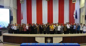 Sejumlah pimpinan perguruan tinggi di Jawa Tengah menghadiri pertemuan di Gedung Prof. Soedarto Undip Tembalang, Senin, 20 Mei 2019.