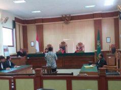 Sidang kasus politik uang caleg LP di Pengadilan Negeri Wonogiri, Selasa , 28 Mei 2019. (istimewa)