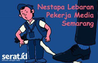 Ilustrasi pekerja media. (Abdul Arif/ Serat.id)