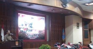 Wali Kota Semarang, Hendrar Prihadi, dalam konferensi pers MXGP of Asia 2019 di Balaikota Semarang, Kamis, 4 Juli 2019.