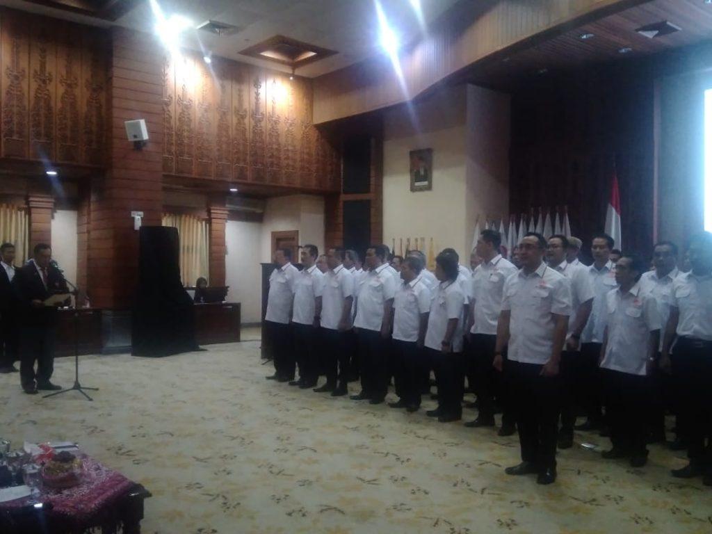 pelantikan pengurus baru KONI Kota Semarang di Gedung Moch.Ichsan, Balaikota Semarang, Jumat, 5 Juli 2019.